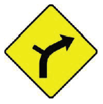 W-009R-Side-Road-on-Outside-of-Right-Bend