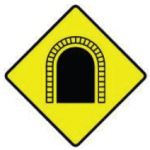 Picture of a W-162-Tunnel Rennicks Road Safety SIgn