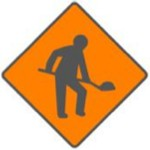 WK 001 Roadworks Ahead